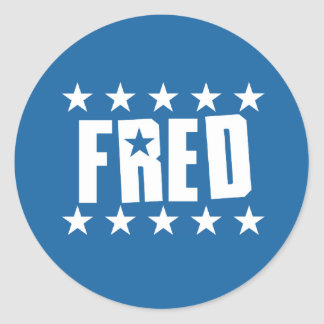 Fred Button 1 Classic Round Sticker