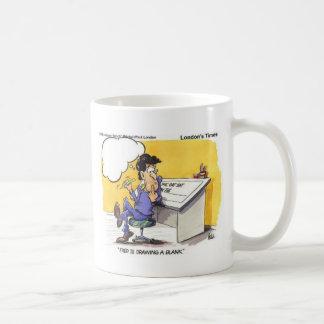 Fred Draws A Blank Funny Offbeat Cartoon Gifts Coffee Mug
