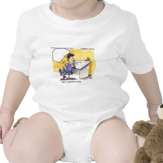 Fred Draws A Blank Funny Offbeat Cartoon Gifts Baby Bodysuit