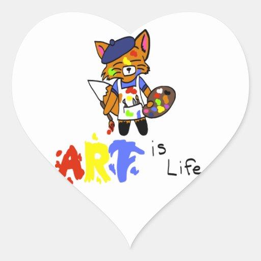 Fred el artista Fox Pegatina Corazón