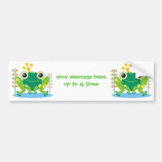 fred el froggy etiqueta de parachoque