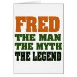 ¡Fred - el hombre, el mito, la leyenda! Tarjeton