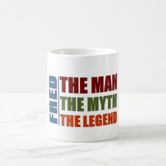 Fred el hombre, el mito, la leyenda taza clásica