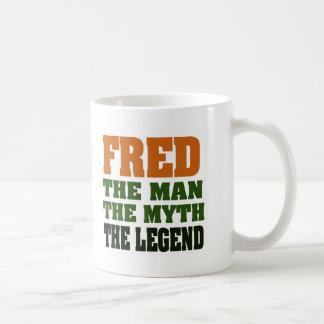 ¡Fred - el hombre, el mito, la leyenda! Taza Clásica