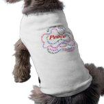 Fred es camisa del perro de la paz camisetas de mascota