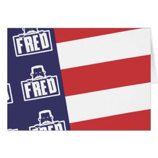 Fred Flag 1 Card