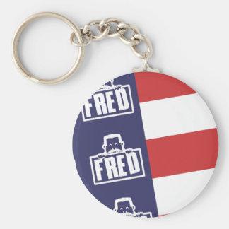 Fred Flag 1 Keychain