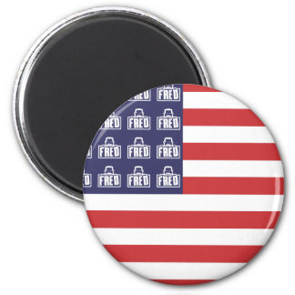 Fred Flag 2 Inch Round Magnet