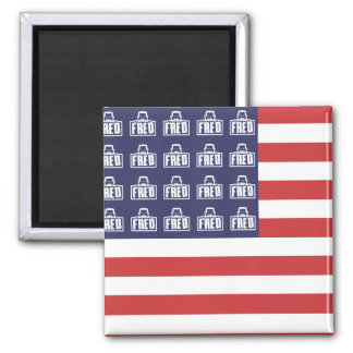 Fred Flag 2 Inch Square Magnet