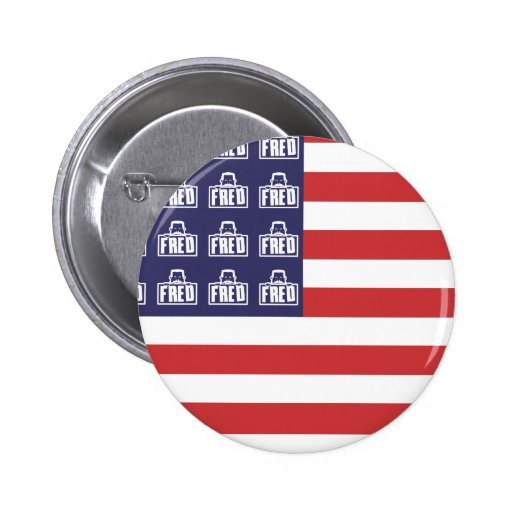 Fred Flag Pinback Button