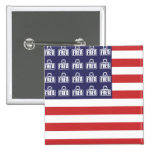 Fred Flag Pinback Buttons