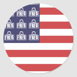 Fred Flag Round Stickers