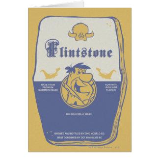 Fred Flintston Big Bold Belly Wash Card