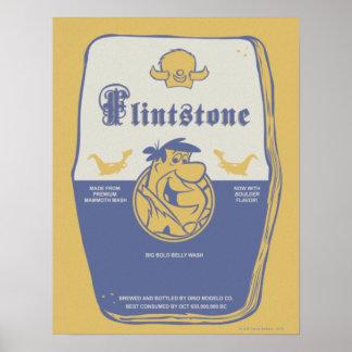 Fred Flintston Big Bold Belly Wash Poster