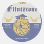 Fred Flintston Big Bold Belly Wash Classic Round Sticker