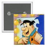 Fred Flintstone Look In Mirror Pinback Buttons