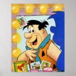 Fred Flintstone Look In Mirror Poster