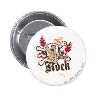 Fred Flintstone  Rock Pinback Button