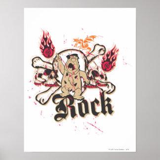 Fred Flintstone  Rock Poster