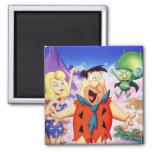 Fred Flintstone Under A Spell 2 Inch Square Magnet