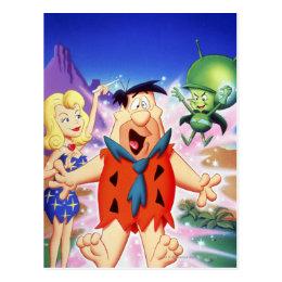 Fred Flintstone Under A Spell Postcard