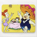 Fred Flintstone Wilma Barney and Betty Fiesta Mouse Pad