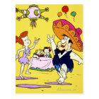 Fred Flintstone Wilma Barney and Betty Fiesta Postcard