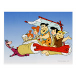 Fred Flintstone Wilma Barney and Betty Pebbles Bam Postcards