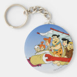 Fred Flintstone Wilma Barney and Betty PEBBLES™ Basic Round Button Keychain
