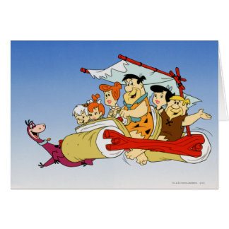 Fred Flintstone Wilma Barney and Betty PEBBLES™ Card