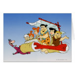 Fred Flintstone Wilma Barney and Betty PEBBLES™ Greeting Card