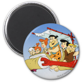 Fred Flintstone Wilma Barney and Betty PEBBLES™ Refrigerator Magnets