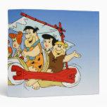 Fred Flintstone Wilma Barney and Betty PEBBLES™ Vinyl Binder