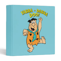 Fred Flintstone Yabba-Dabba Doo! 3 Ring Binder