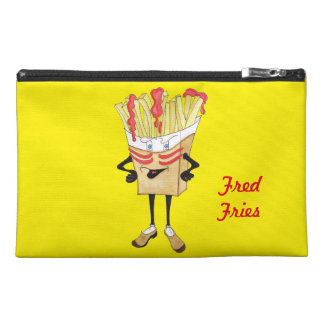 "'Fred Fries' 9""x6"" Pencil Case. Travel Accessory Bag"
