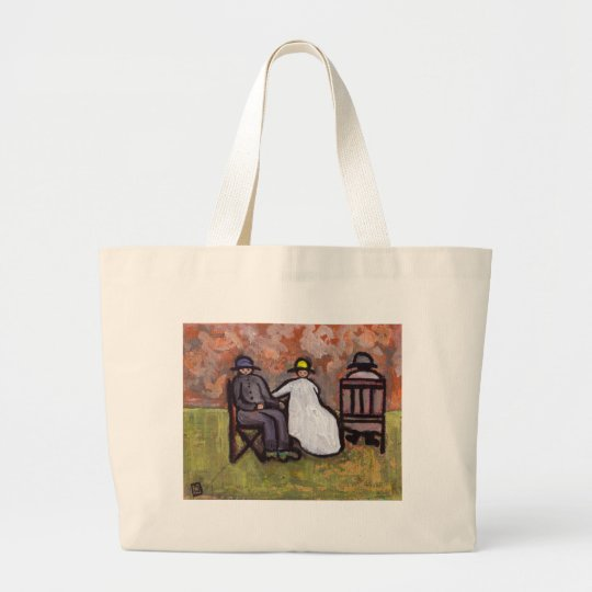 FRED GLADY'S AND HER MOTHER LARGE TOTE BAG