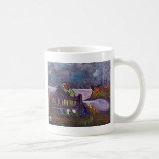 FRED GLADYS AND TREVOR COFFEE MUG