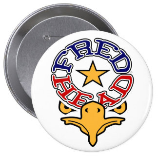 """Fred Head Eagle 4"""" Button (Huge)"""