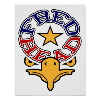 Fred Head Eagle Small Poster