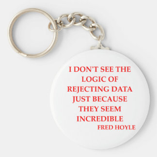 fred hoyle quote basic round button keychain