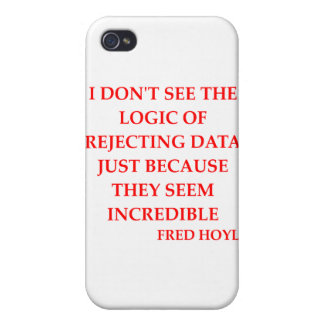 fred hoyle quote iPhone 4 case