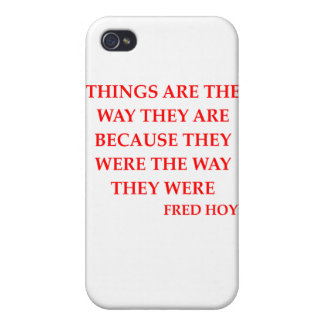 fred hoyle quote iPhone 4/4S case