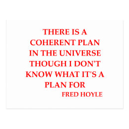 fred hoyle quote postcard