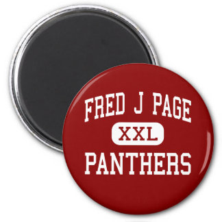 Fred J Page - Panthers - Middle - Franklin Refrigerator Magnets