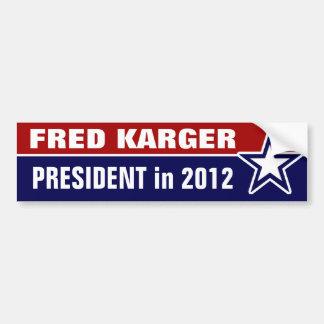 Fred Karger en 2012 Pegatina Para Auto