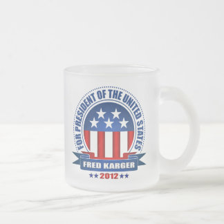 Fred Karger Frosted Glass Coffee Mug