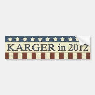 Fred Karger in 2012 Bumper Sticker