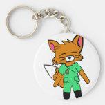 Fred la enfermera Fox Llaveros Personalizados