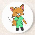 Fred la enfermera Fox Posavasos Diseño