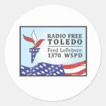 Fred libre de radio pegatina
